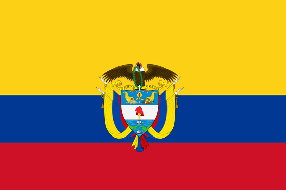 Esequibo - Noticias y  Generalidades - Página 31 Bandera-de-colombia-con-escudo
