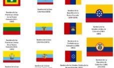 ¿Cuáles han sido las banderas de Colombia?