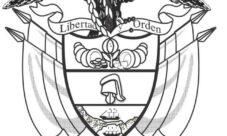 Escudo de Colombia para dibujar