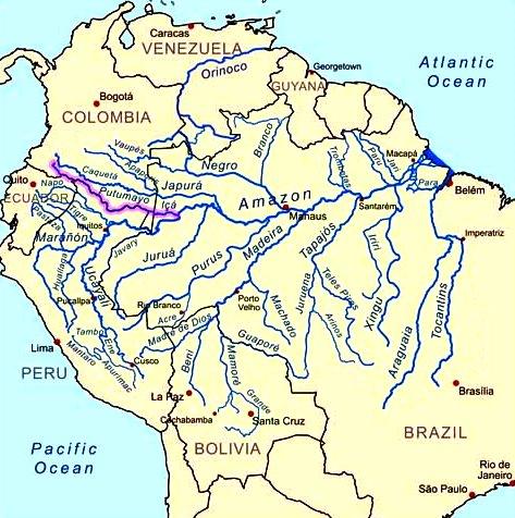 Principales ríos de Colombia